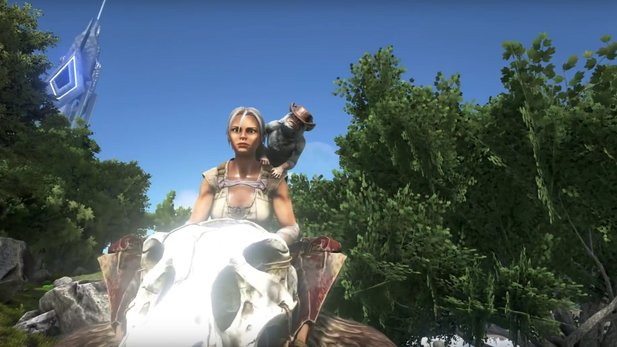 Ark: Survival Evolved - Gameplay-Video zeigt Affen, die mit Kot schmeißen