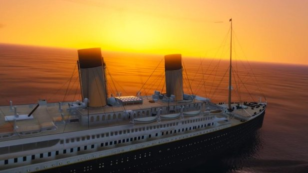 Die RMS Titanic in GTA 5