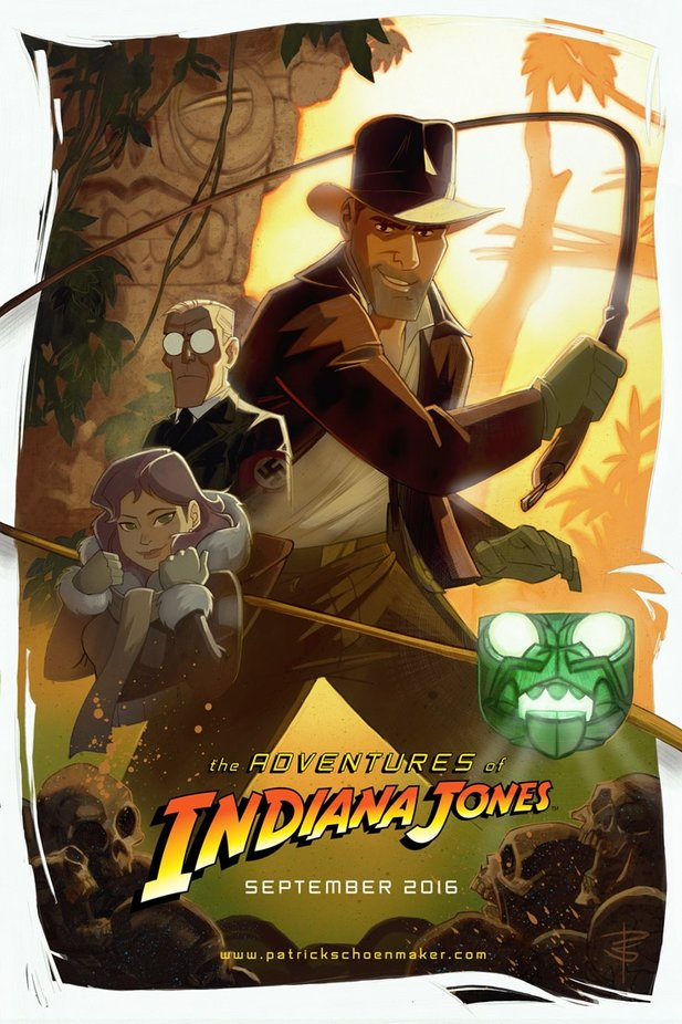 Poster zur Serie The Adventures of Indiana Jones by Patrick Schoenmaker.