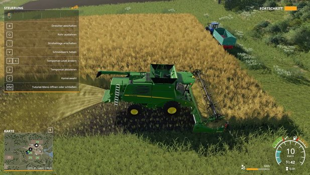 In the tutorial we learn the basics of the game. Here: the harvest.