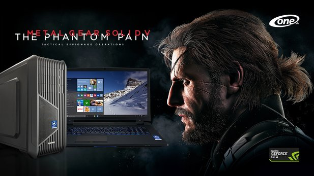 Spiele wie ein Boss mit Metal Gear Solid 5: The Phantom Pain als neue Vollversion bei allen GameStar-PCs mit Geforce-Grafikkarte und allen GameStar-Notebooks ab Geforce GTX 970M.