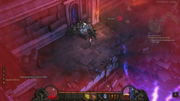 Diablo 3 - Komplettlösung : Passt man nicht auf, wird einem der Fleischerschlund gefährlich.