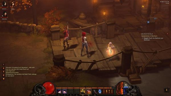Diablo 3 - Komplettlösung : Der Fährmann bringt bringt uns nach Wortham.