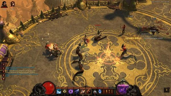 Diablo 3 - Komplettlösung : Unsere kaiserliche Audienz endet mitten in schlängelnden Täuschern.