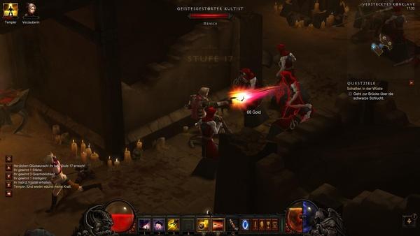 Diablo 3 - Komplettlösung : Kurzer Prozess mit Maghdas Kultisten bei dem versteckten Konklave.