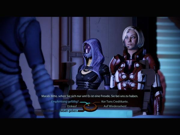 Mass Effect 2 : Bevor Sie auf Shoppingtour gehen, handeln Sie besser einen Rabatt beim Verkäufer aus.
