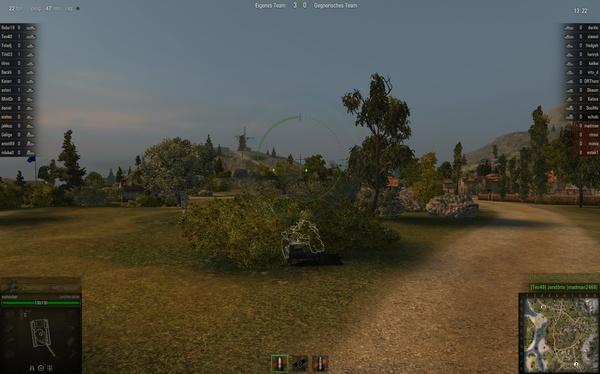 World of Tanks : Nicht gut: Sobald auch nur ein kleines Teil mit normaler Textur angezeigt wird, kann ein Gegner Sie sehen.