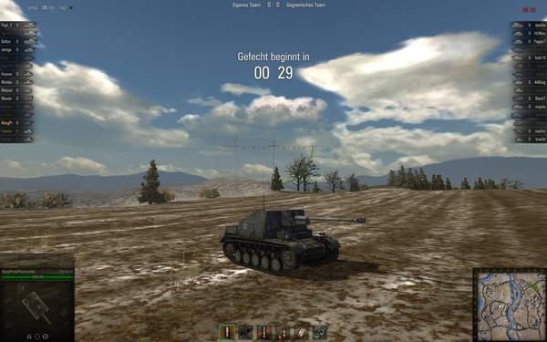 World of Tanks : Vor jeder Schlacht müssen wir 30 Sekunden lang warten. Nervt!