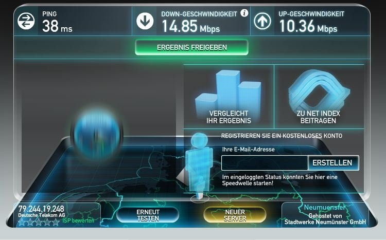 speed test live tim