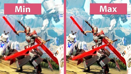 Battleborn (Early Access Preview) - Minimale und maximale Grafik-Details im Vergleich