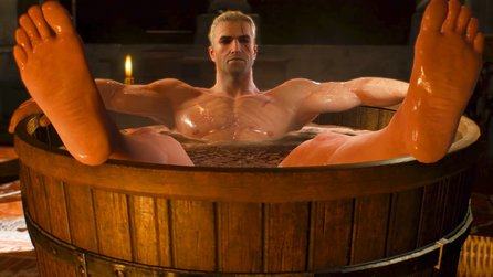 The Witcher 3 - Kuriose Sammlerfigur: Geralt in der Badewanne