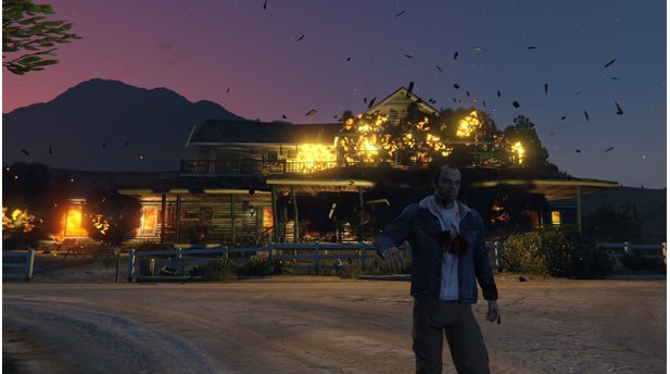 <b>GTA 5 - PC-Version</b><br>Psychopaths don't look at explosions.