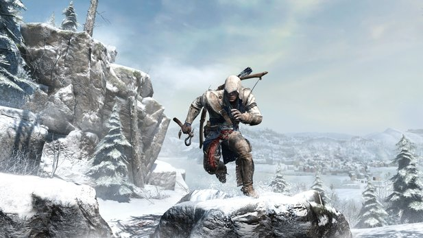 Assassin's Creed 3 mit Assassinen-Indianer in Amerika.
