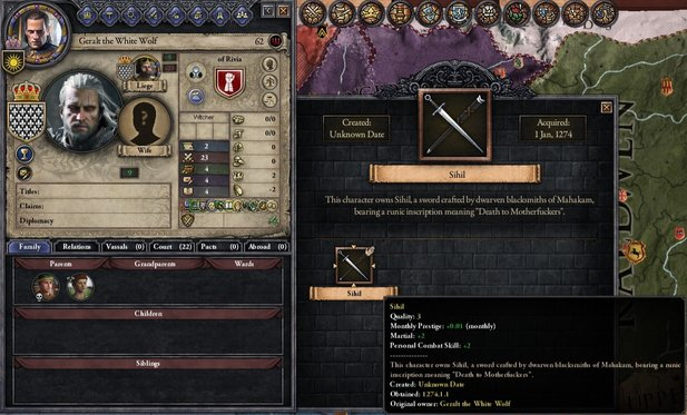 Crusader Kings 2 als Witcher-Strategiespiel. Die Witcher-Kings-Mod macht es möglich.