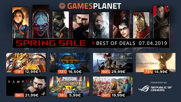 Die Highlights des Spring Sale bei Gamesplanet.