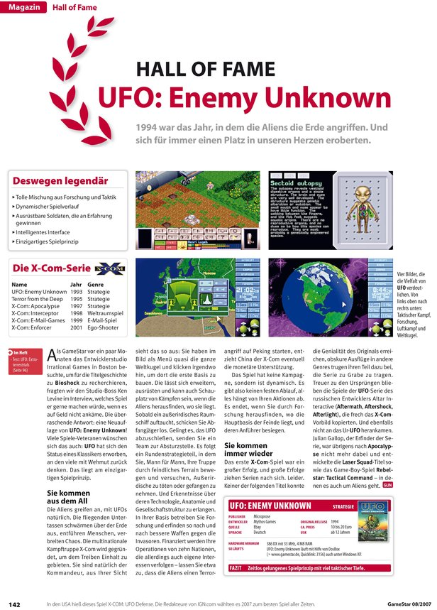 Hall of Fame-Artikel aus GameStar 08/2007