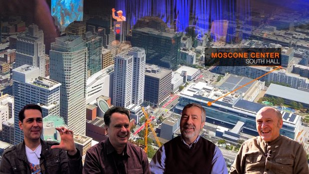 Jörg spoke to numerous industry experts for the GDC documentary. From left: Roland Austinat, Louis Castle, Warren Spector, Chris Crawford.