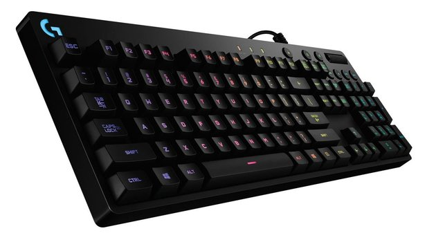 Die Logitech G810 Orion Spectrum nutzt Romer-G-Switches.