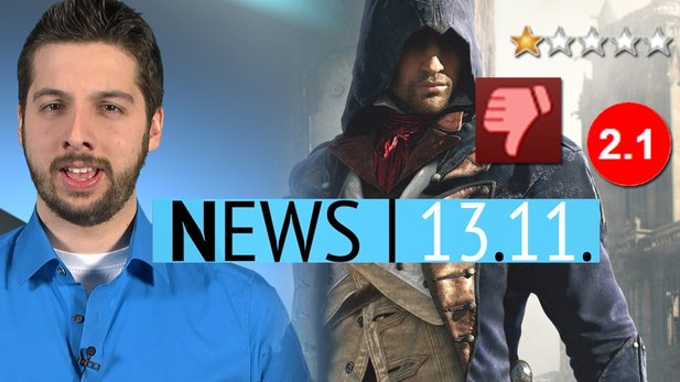 News - Donnerstag, 13. November 2014 - User-Hass auf Assassin's Creed Unity & Matchmaking in Halo Collection kaputt