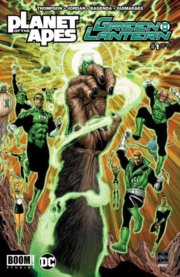 Crossover-Comic Planet der Affen/Green Lantern.