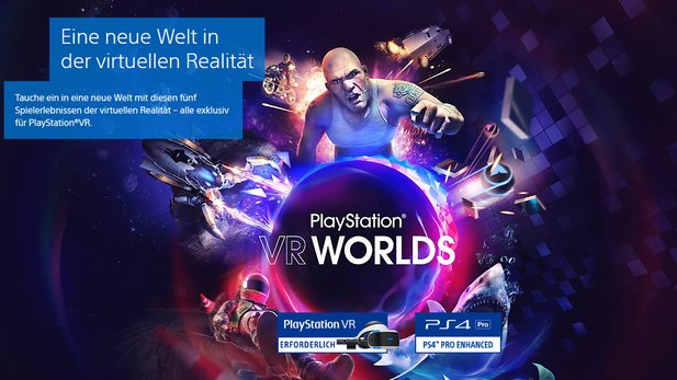 PlayStation VR + Camera + VR Worlds für 199,00 € auf Amazon.de