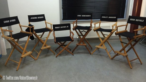 Am Set von Avengers 2: Age of Ultron