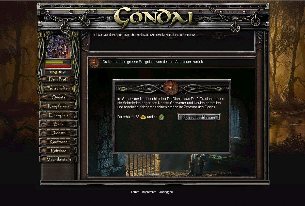 Gondal Browserspiel Des Tages Machtkristalle Und Goldmünzen