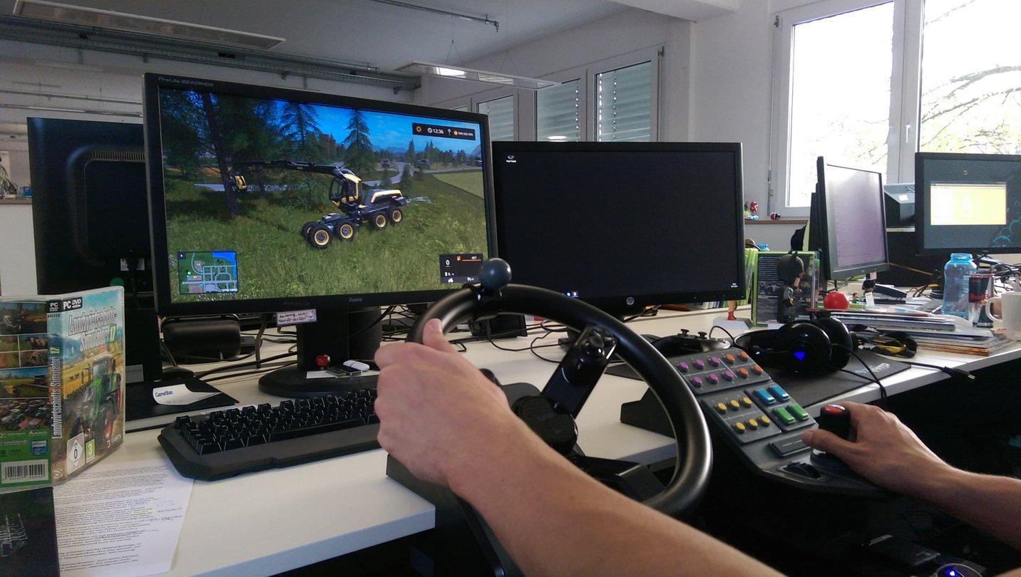 Landwirtschafts Simulator 17 Saitek Lenkrad Und Andere Controller