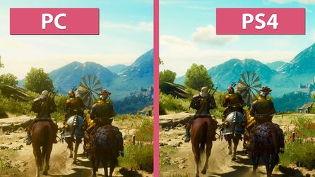 The Witcher 3: Blood and Wine - Grafik-Vergleich: PC gegen PS4
