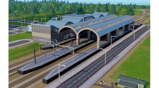 <b>SimCity<</b><br/>Screenshot von de rMod »Central Train Station«