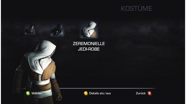 Star Wars: The Force Unleashed 2Freispielbares Outfit: Zeremonielle Jedi Robe