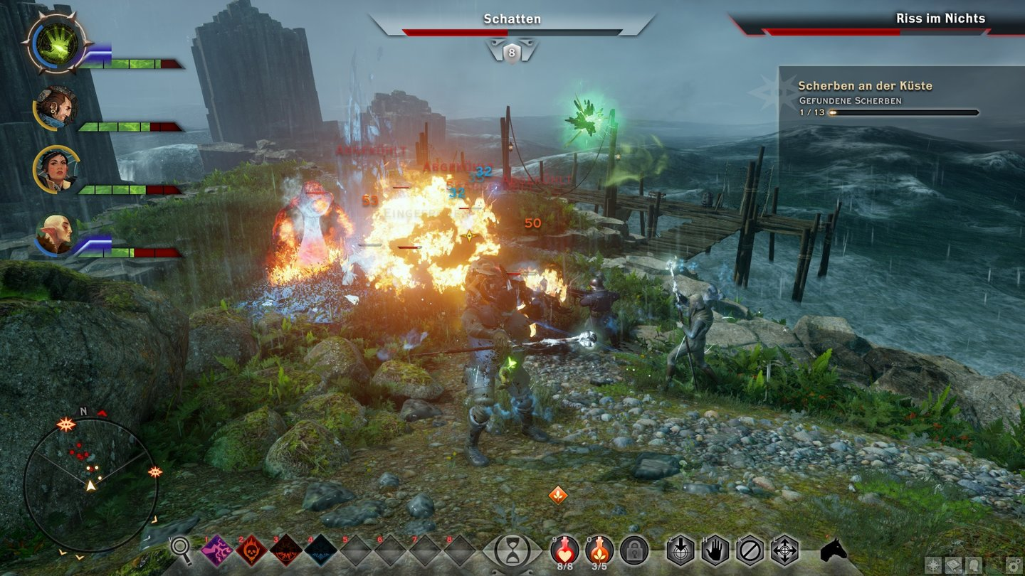 Dragon Age: InquisitionWir säubern einen Dimensionsriss an der Sturmküste.