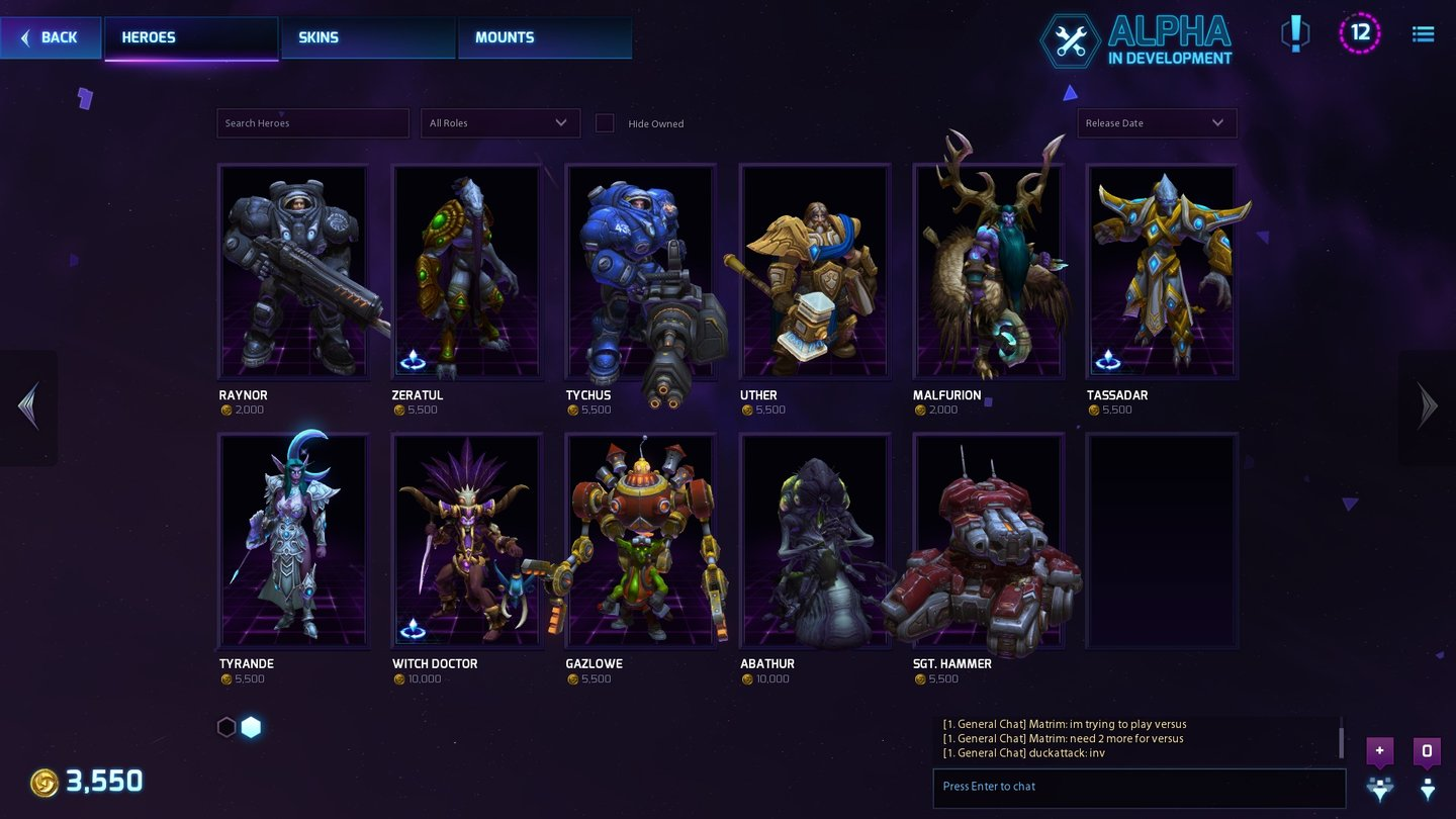 Heroes of the Storm … wie auch Raynor, Zeratul und Uther.