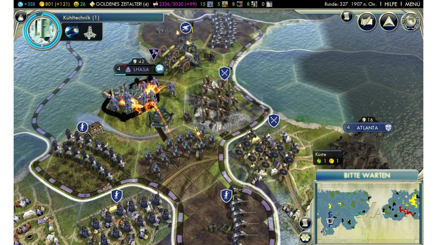 Sid Meier's Civilization 5Screenshots aus der Testversion für PC.