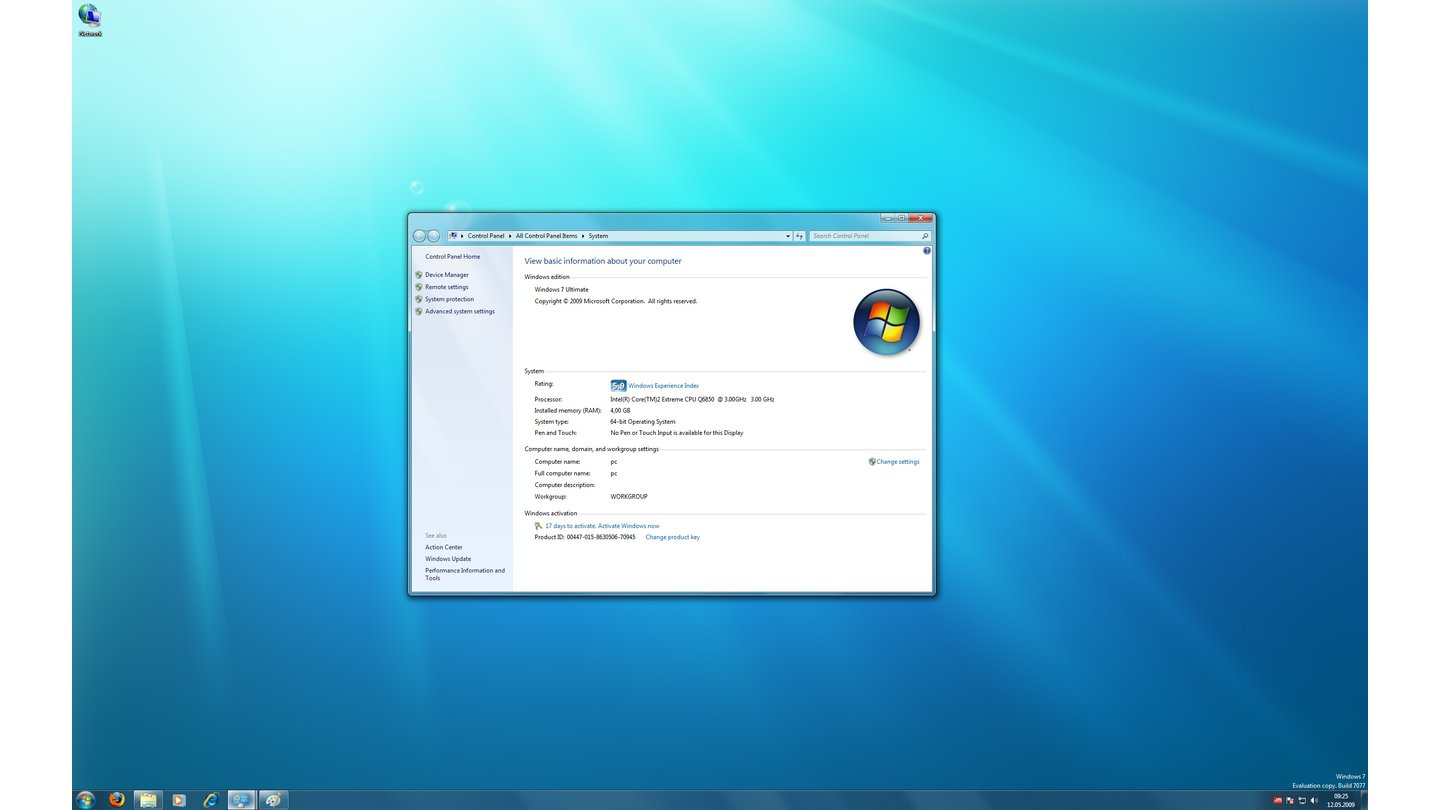 Windows 7-Thema: Aero