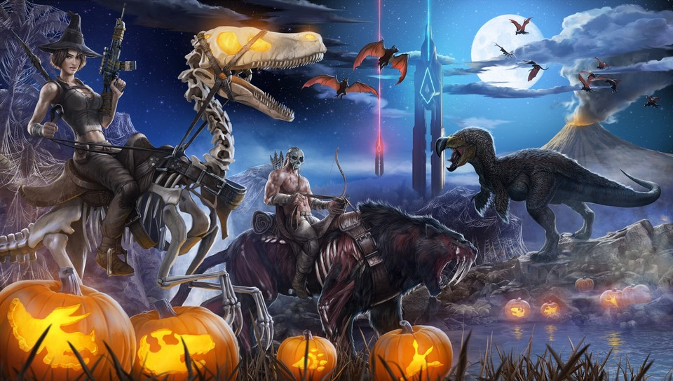 In Ark: Survival Evolved gibt es zu Halloween diverse Spezial-Inhalte.