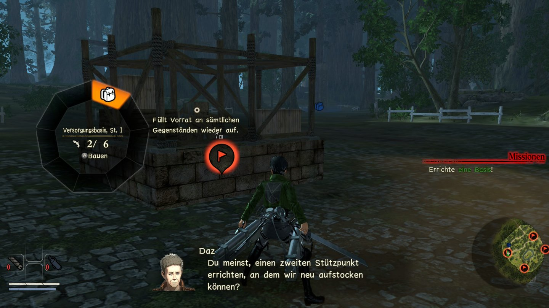 Attack On Titan 2 Im Test Zhes Jger Schnitzel Gamepro Sony Ps4 In Der Umgebung Knnen Wir An Bestimmten Punkten Basen Nachschublager Geschtztrme Usw Errichten
