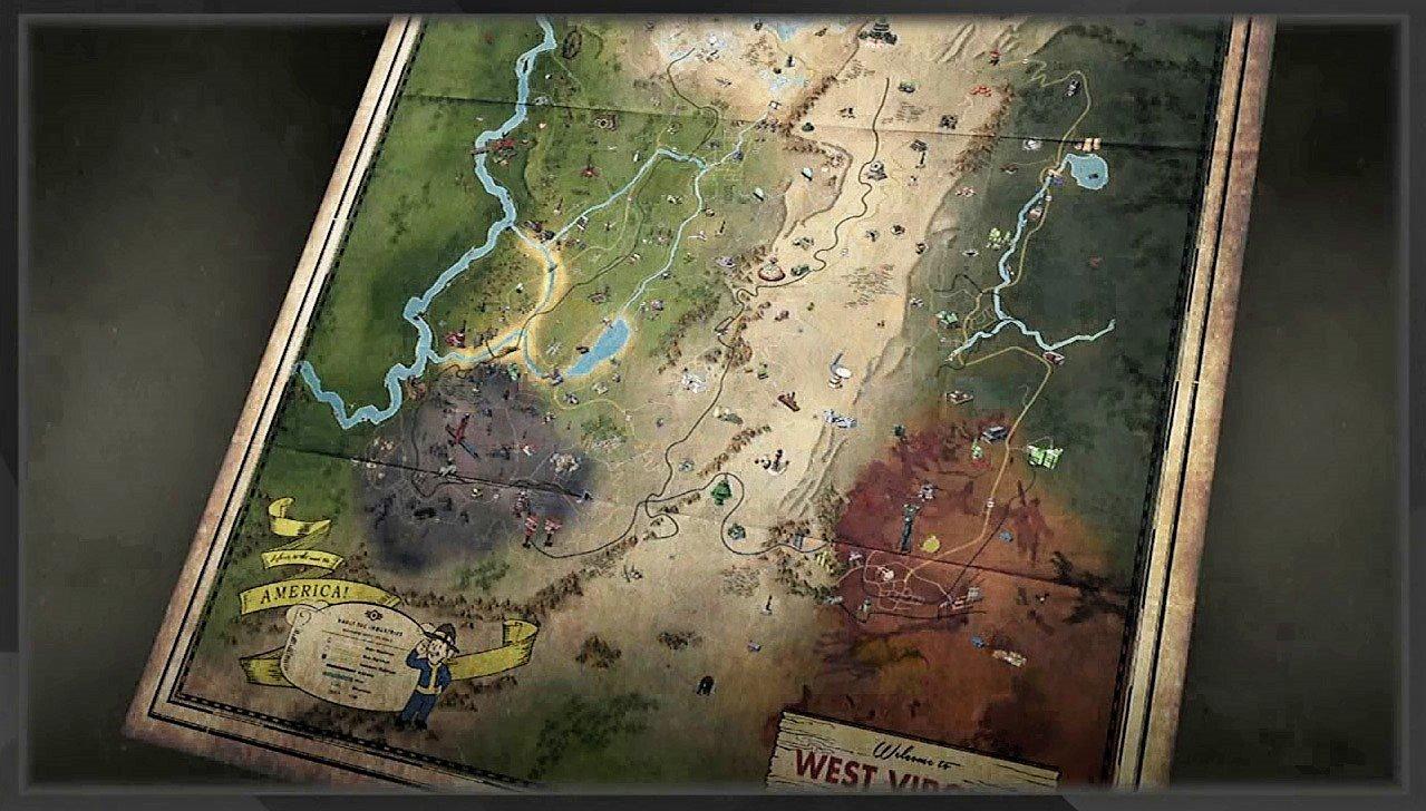 Fallout 76 Karte Deutsch.Fallout 76 So Viel Zu Entdecken Das Ist Die Komplette Map