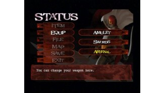 Character's status screen (Lucia disc).