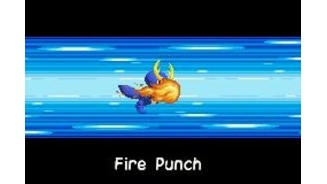 Attacking with Fire Punch, one of the first abilities of