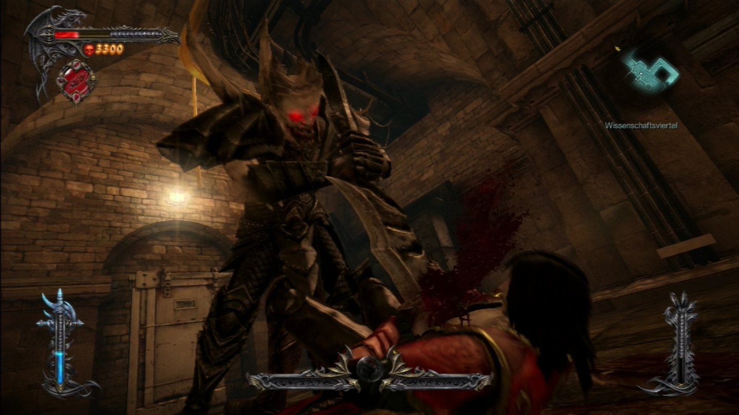 Castlevania: Lords of Shadow 2Situationen, in denen normalerweise ein Quicktime-Event folgen würde, wirken ohne das Knöpfchendrücken zuweilen etwas merkwürdig.
