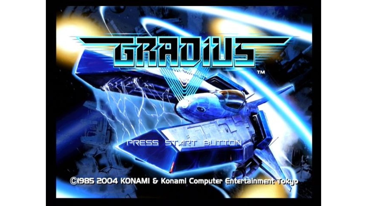 Game title and menu screen