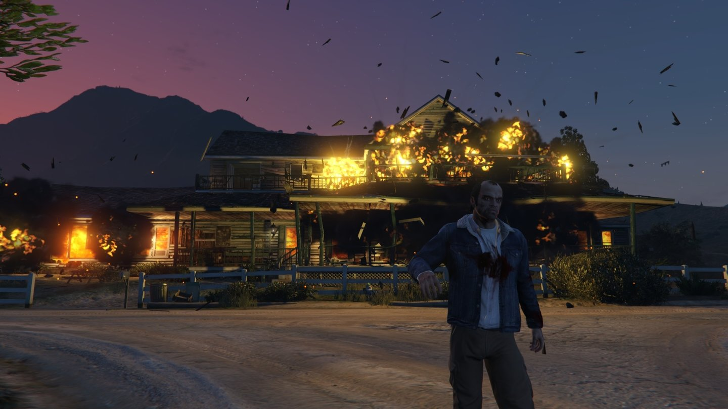 GTA 5 - PC-VersionPsychopaths don't look at explosions.