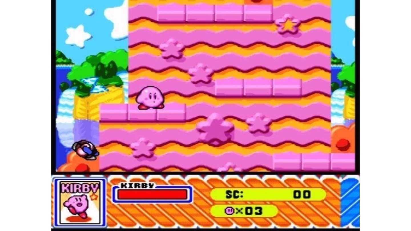 This level looks quite suitable for Kirby...