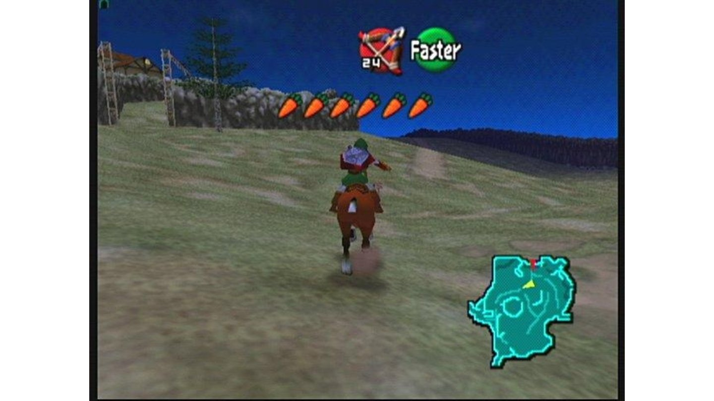 This horse, named Epona, gets you where you need to go.