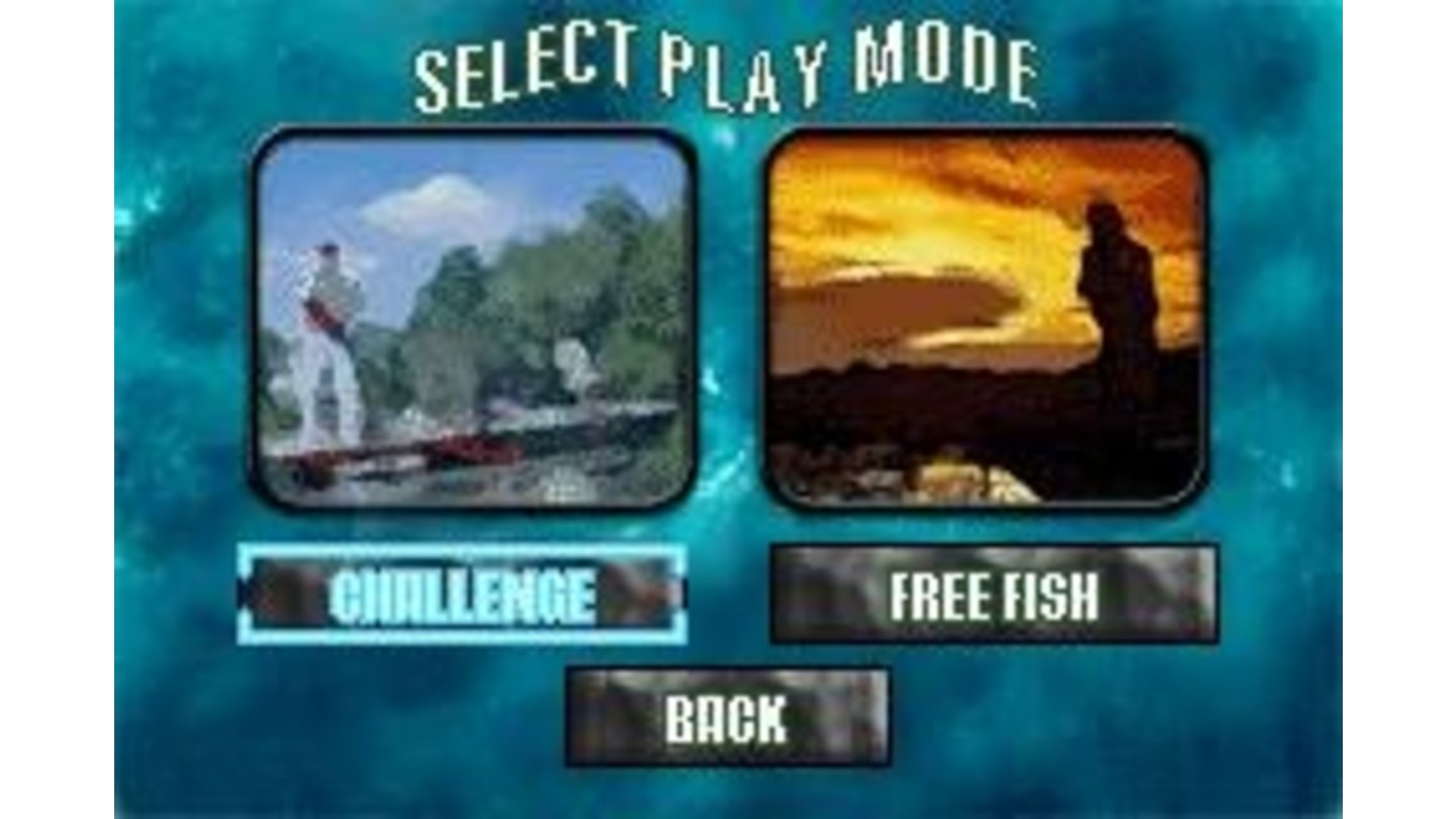 Choose your mode of play... Challenge or Free Fish