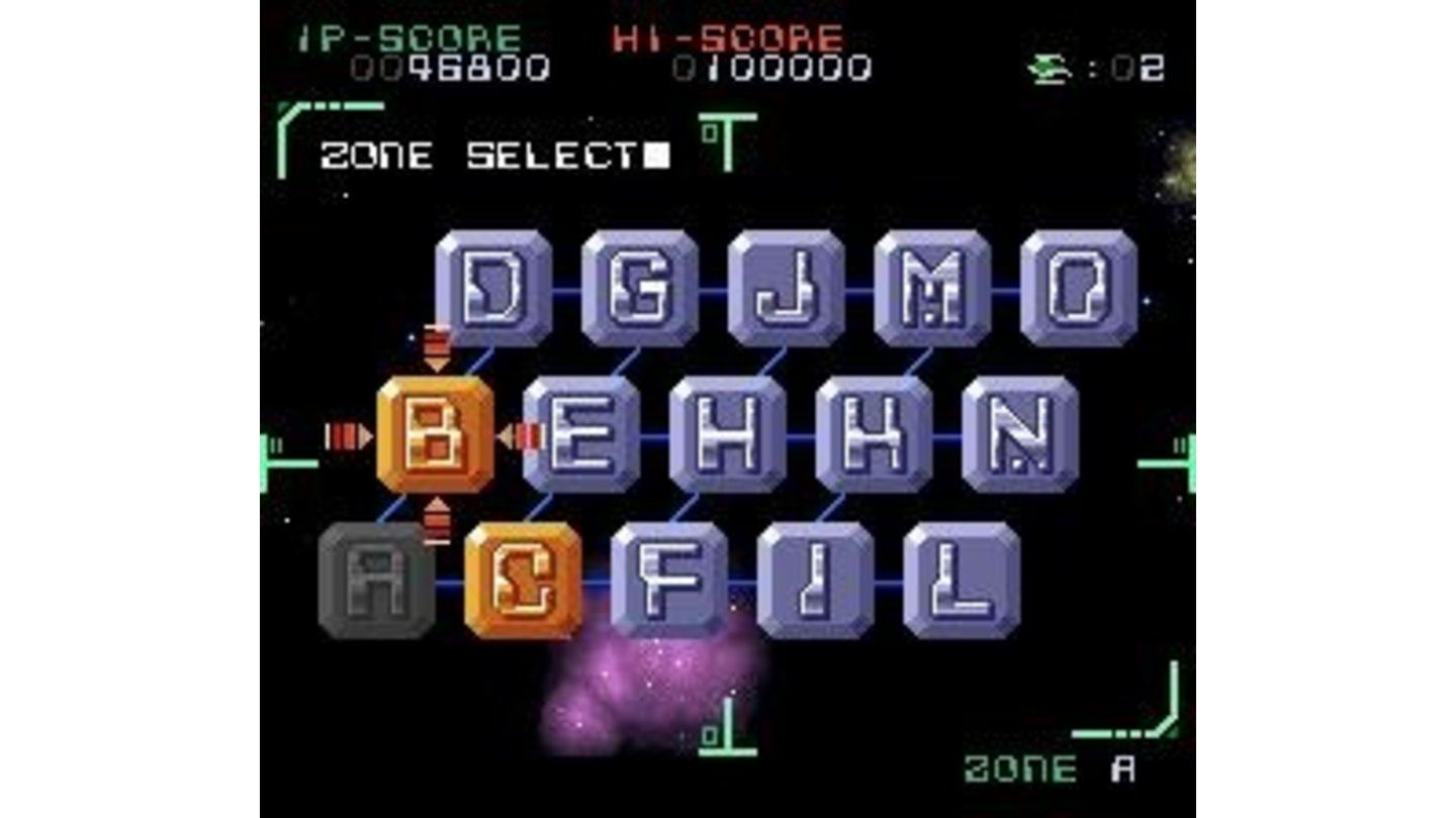 Stage select at the end of a level