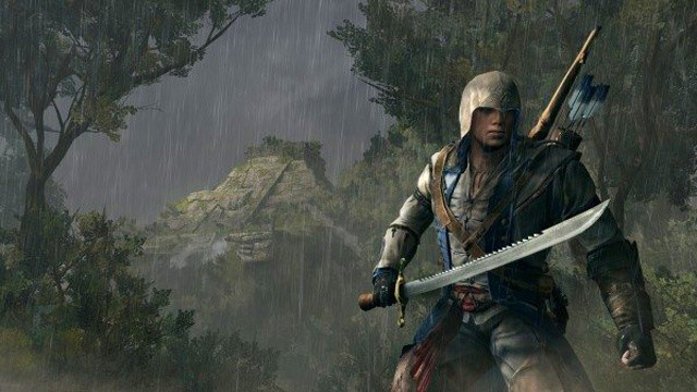 Connor vor der Maya-Pyramide in Assassin's Creed 3.