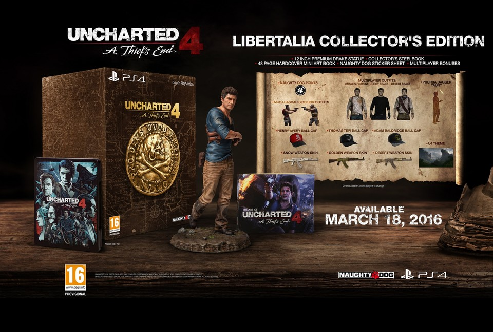 Uncharted 4 in der Collector's Edition.