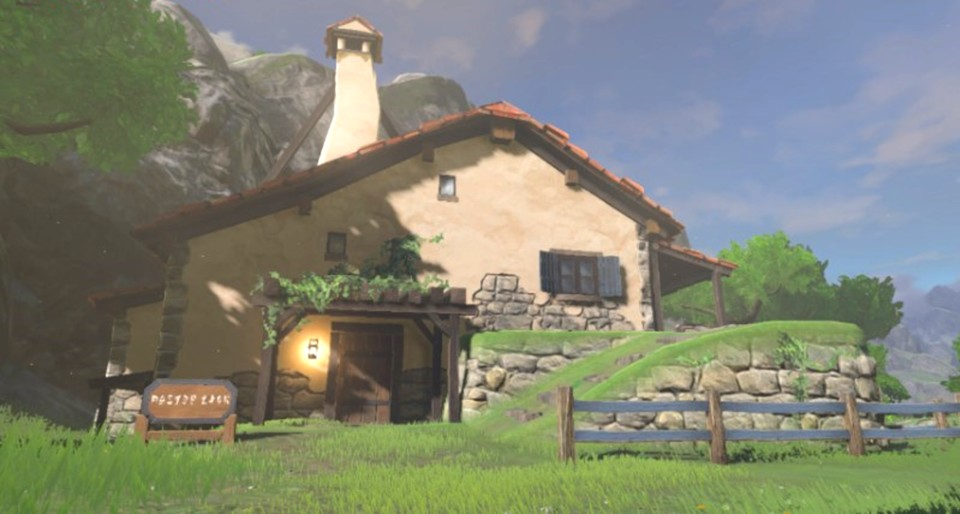So sieht in Zelda: Breath of the Wild Links Haus in Hateno aus.